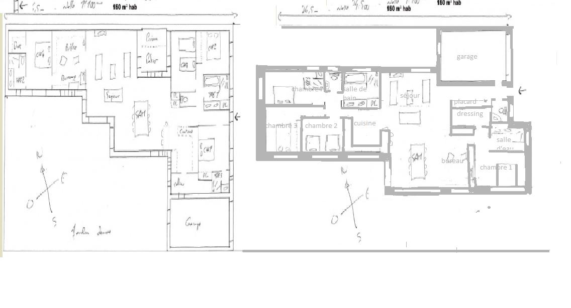 ci dessous un petit bidouillage ralis sur paint histoire denvisager dautres amnagements ce plan bien que perfectible en de nombreux points - Plan Petite Maison Plain Pied