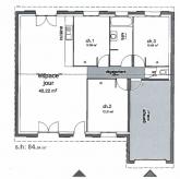 plan maison gratuit 85m2