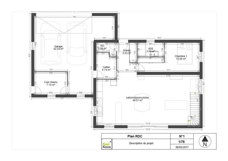 plan de maison vide