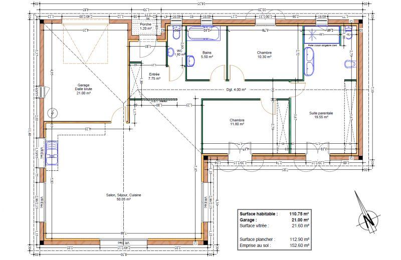 Plan Maison Plain Pied De 110 M Sur Un Terrain De 700 M Qu En Pensez Vous 139 Messages