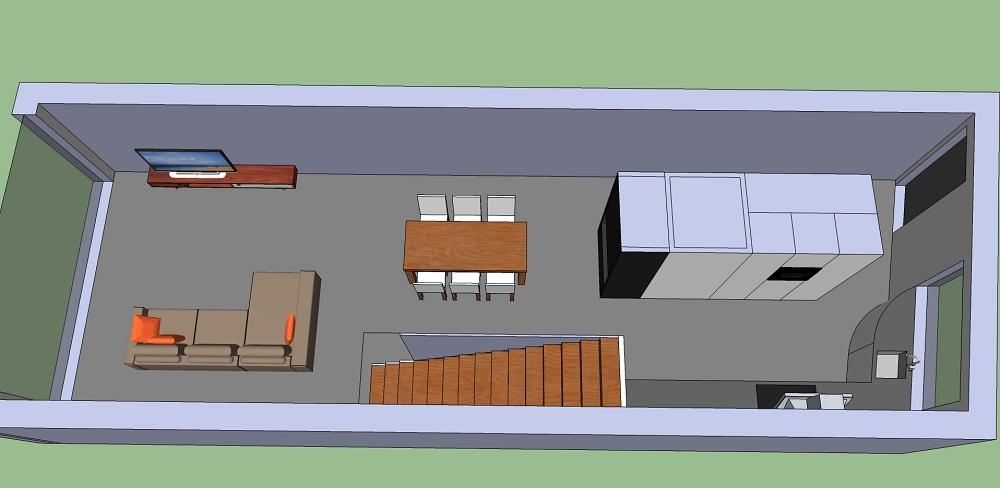 plan de maison facade etroite