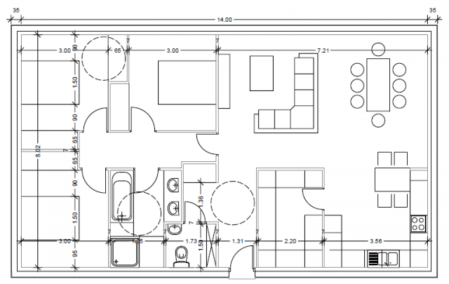 Plan pied 110m2 53 messages page 2 for Plan maison 110m2 plain pied
