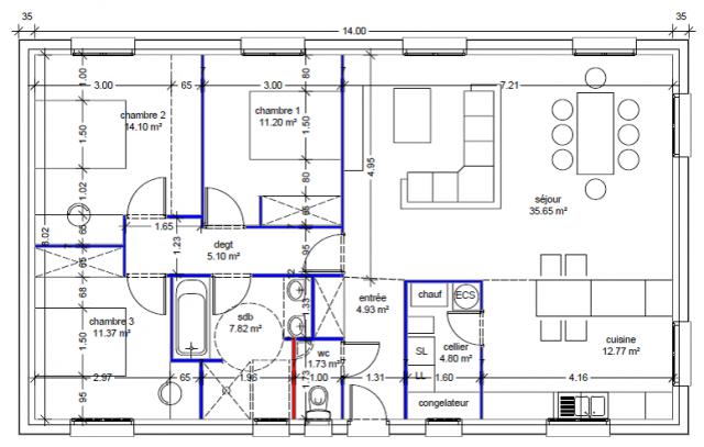 plan pied 110m2 53 messages page 4. Black Bedroom Furniture Sets. Home Design Ideas