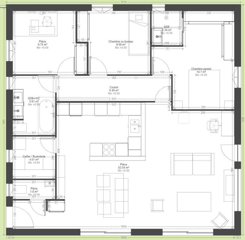 Avis Plan Maison Plain Pied 110M2 Ossature Bois - 27 Messages
