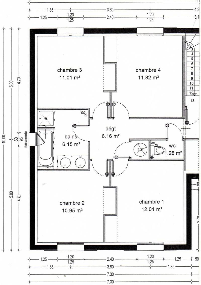 plan maison sous sol semi enterre. Black Bedroom Furniture Sets. Home Design Ideas