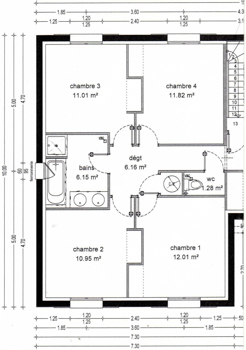plan maison sous sol semi enterre