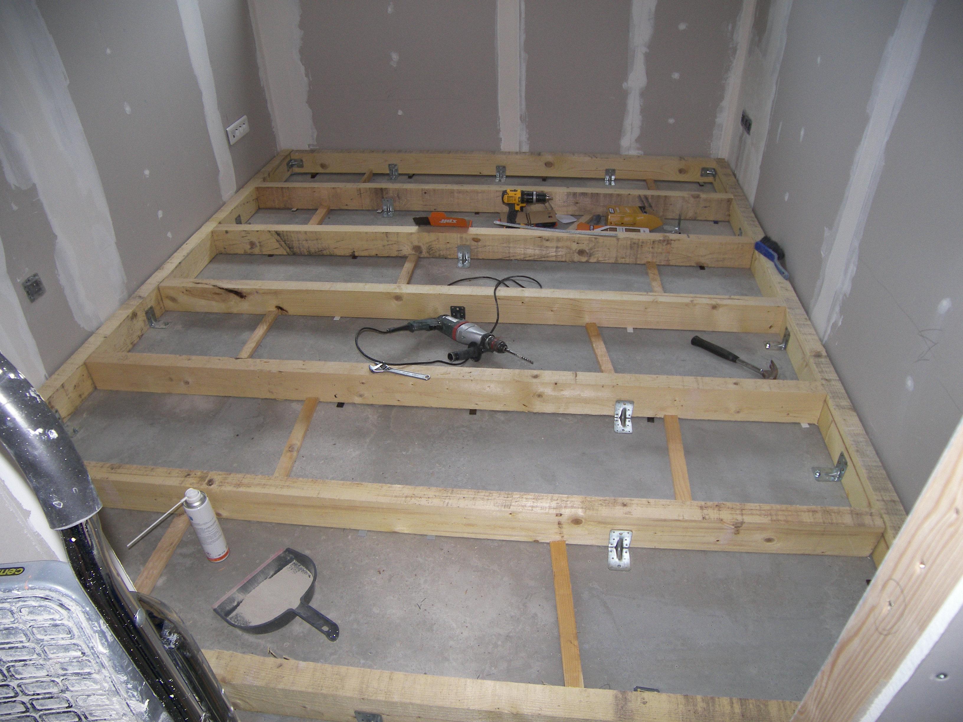 Plancher bois isol sur dalle b ton 8 messages - Faire un plancher beton sur poutre bois ...