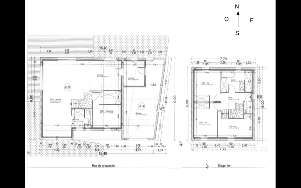 Plan maison en l avec tour for Plan maison en y