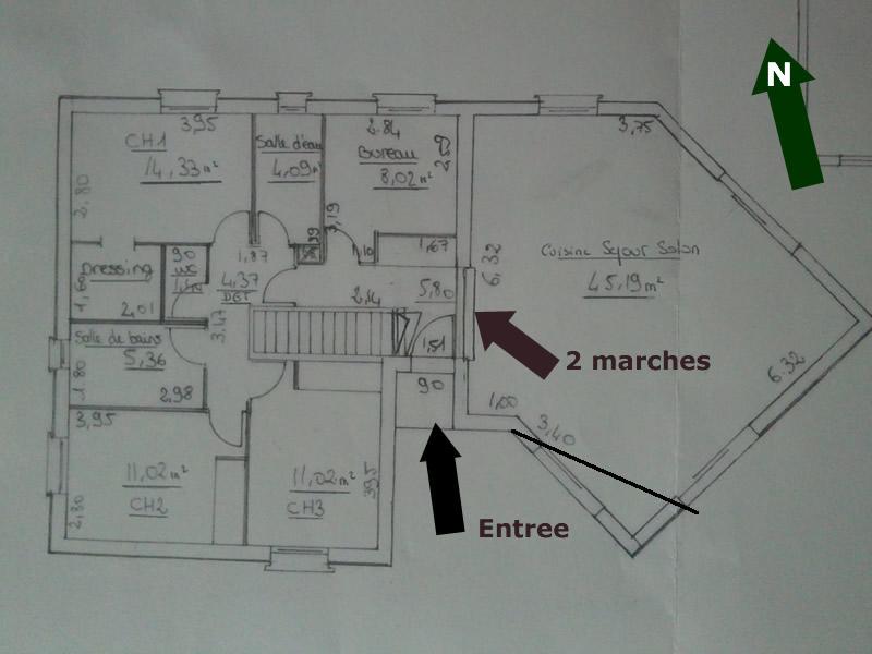 Célèbre Nos plans: Maison demi-sous-sol/demi-niveau 115m2 - 51 messages CD57