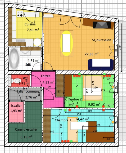plan 4 appartement par palier