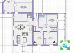 plan de maison sur terrain de 500m2