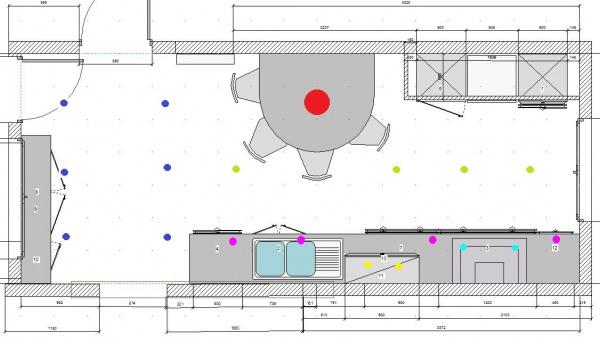 Eclairage cuisine spot eclairage cuisine cucina 2 spots - Eclairage spot cuisine ...