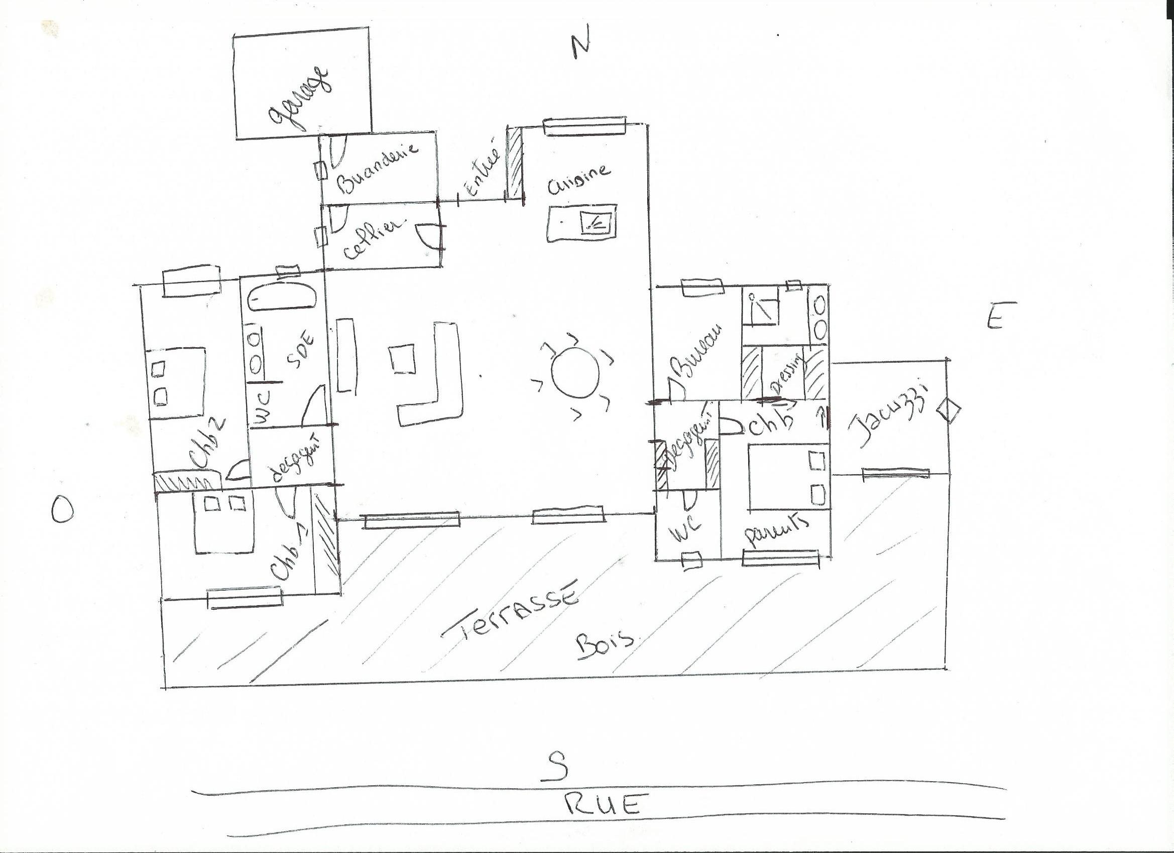 Projet maison 140m2 toit plat 38 messages for Plan maison toit plat 150m2