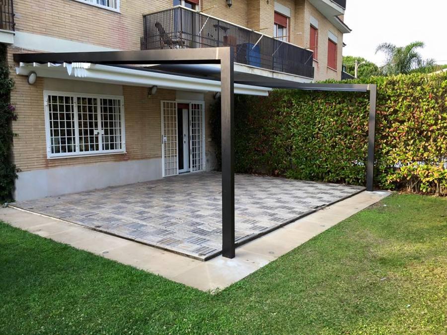 Nice Pergola Alu 6X4 #7:   Pergola Aluminium Classique Sur
