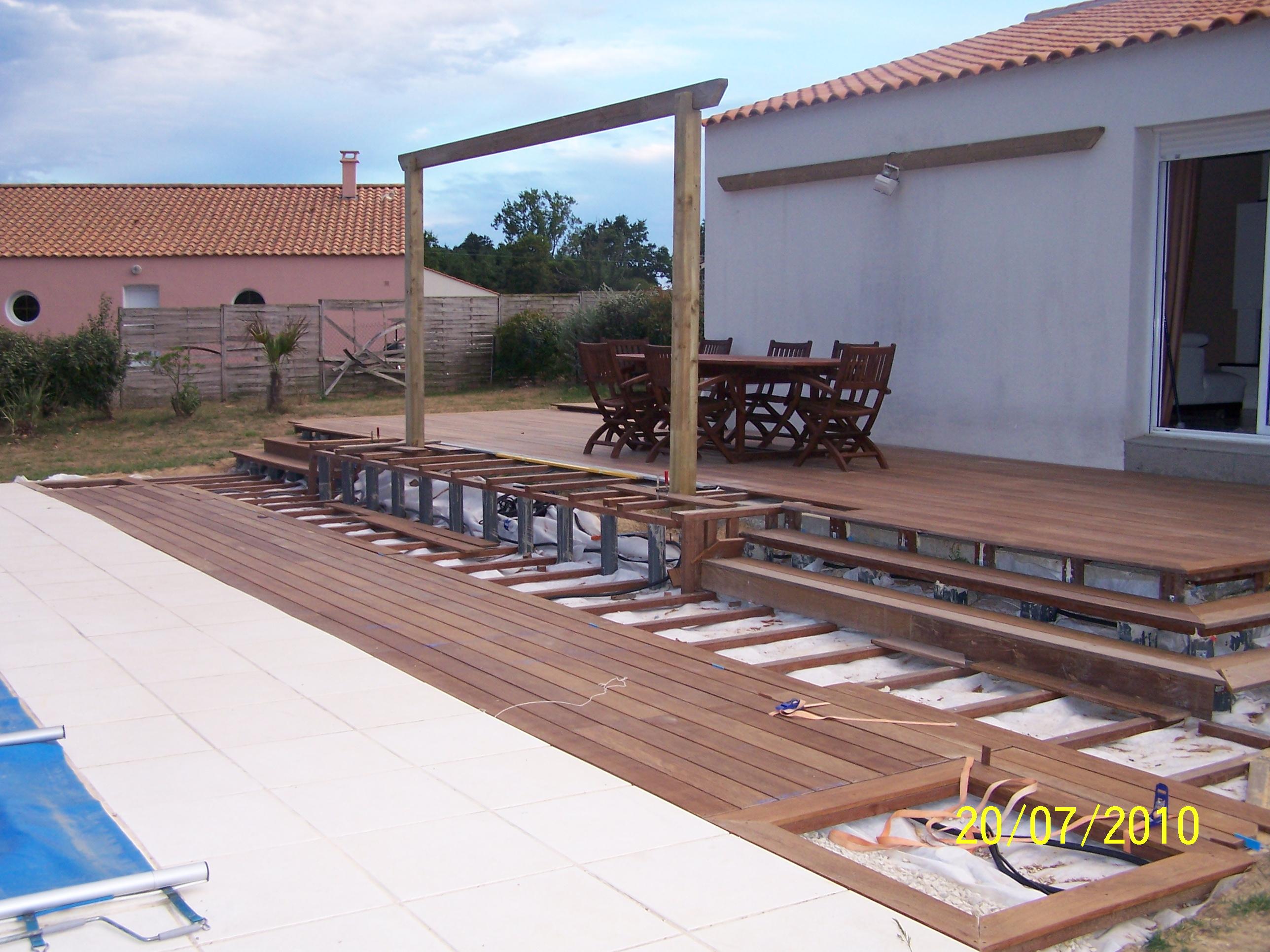 Projet r aliqaton terrasse en ip pergola bois photos for Projet terrasse en 3d
