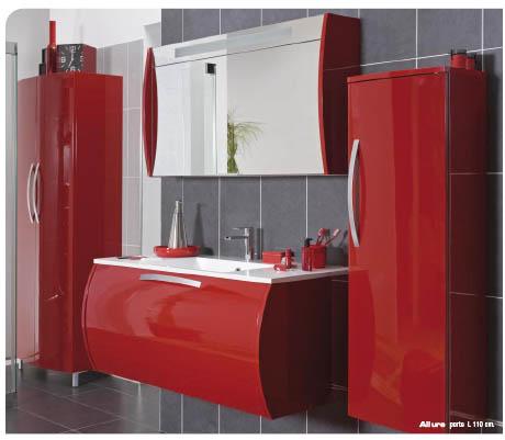 vasque de salle de bain rouge