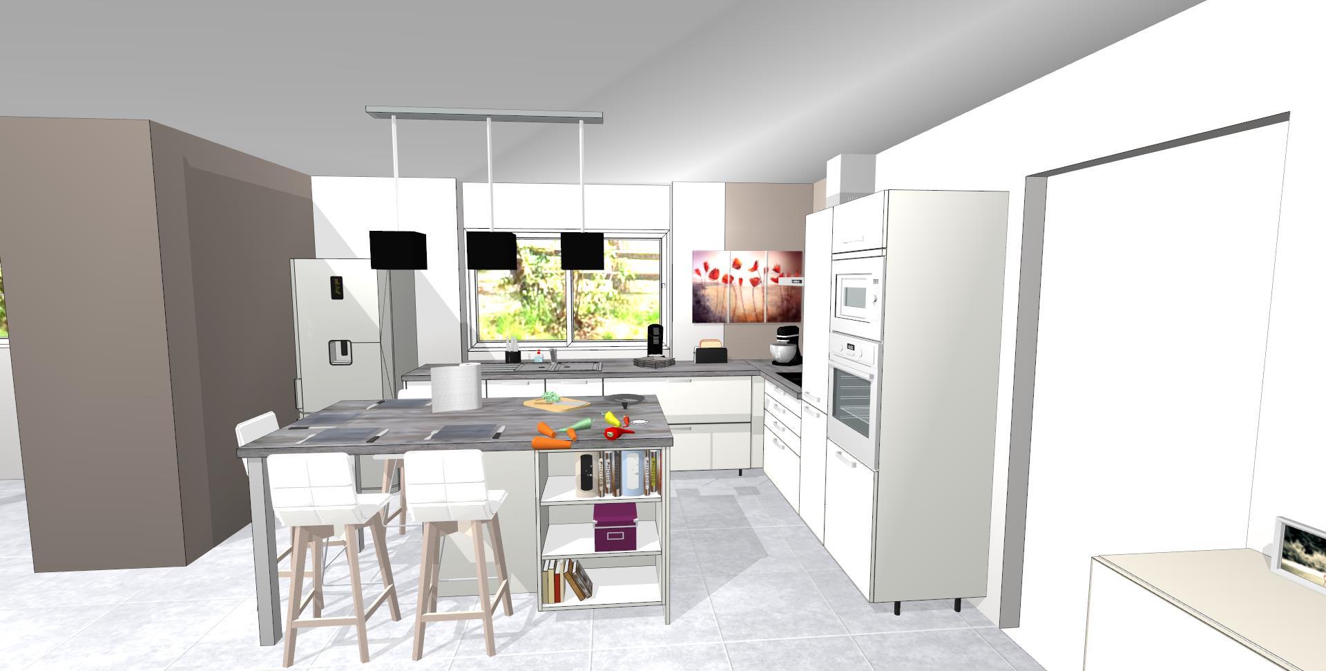 Les projets implantation de vos cuisines 8860 messages for Simulation implantation cuisine