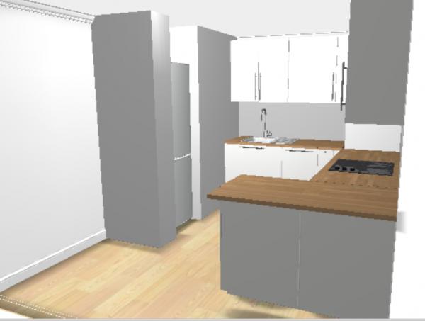 Les projets implantation de vos cuisines 8825 messages for Implantation petite cuisine