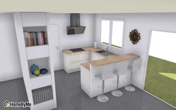 Les projets implantation de vos cuisines 8831 messages for Cuisine amenagee 9m2