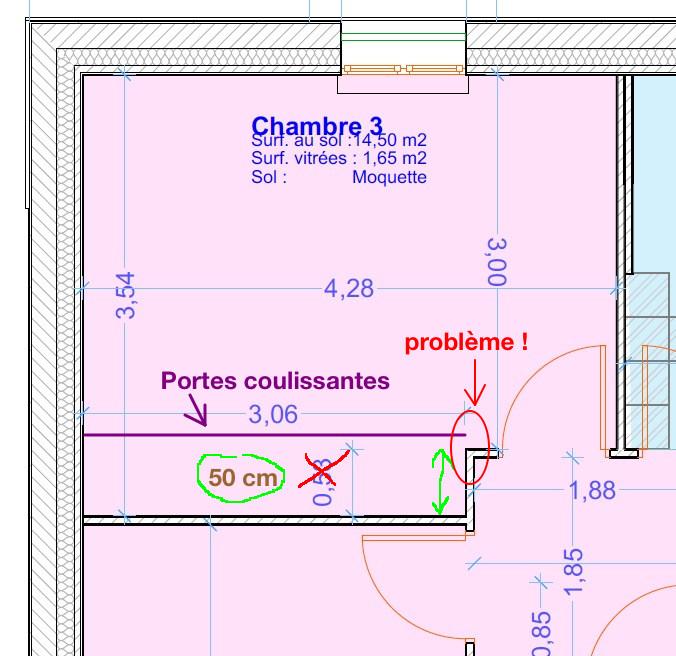 Recherche solution pour portes coulissantes devant for Combien le metre carre