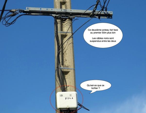 Raccord entre ligne t l com ext rieure et dti int rieur for Cable de telephone exterieur