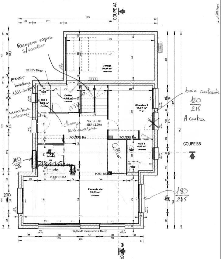 plan de maison du sud