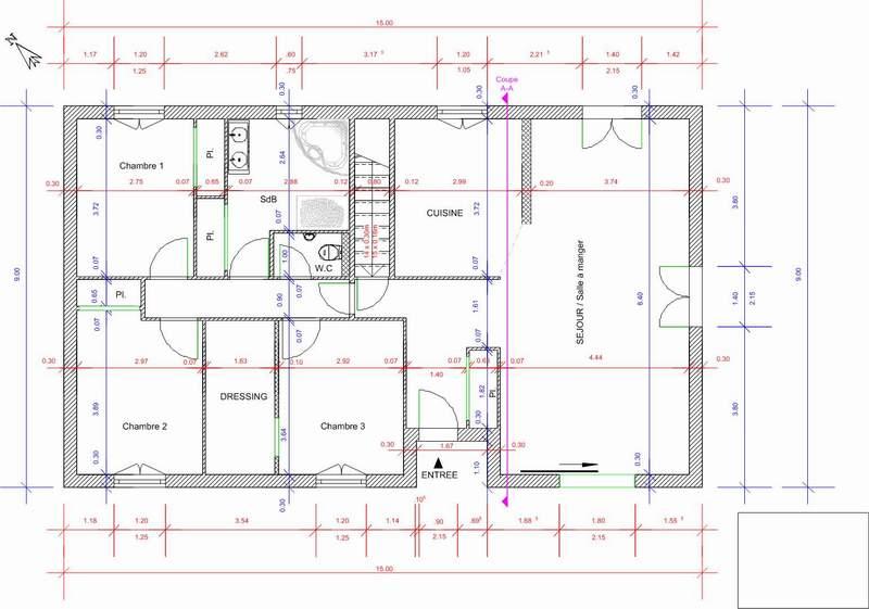 Plan Maison Sous Sol Agrandir Garderobe Entre En Enlevant Salle De