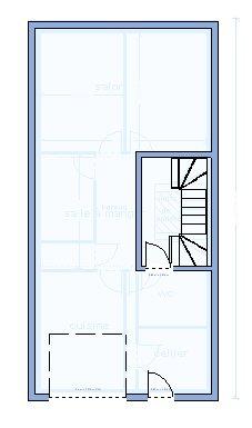 plan maison 6 metre de large