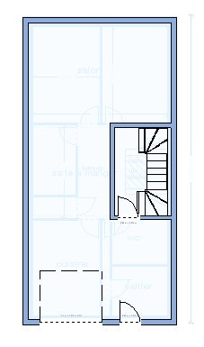 plan maison 6m de large. Black Bedroom Furniture Sets. Home Design Ideas