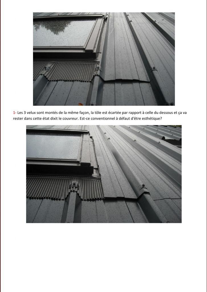 Célèbre Toiture bac acier, posée sans soins - 7 messages VB79