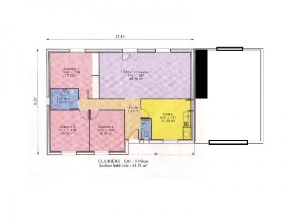 plan de maison chalet ideal