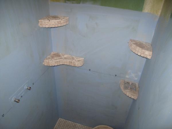 Beautiful salle de bain beton cellulaire pictures for Meuble beton cellulaire