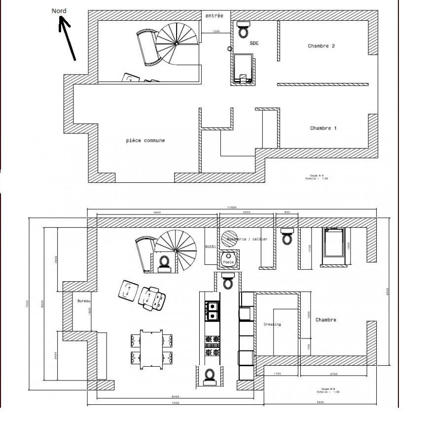 je soumets mon plan la critique rdc 1 environ 120m 41 messages page 2. Black Bedroom Furniture Sets. Home Design Ideas