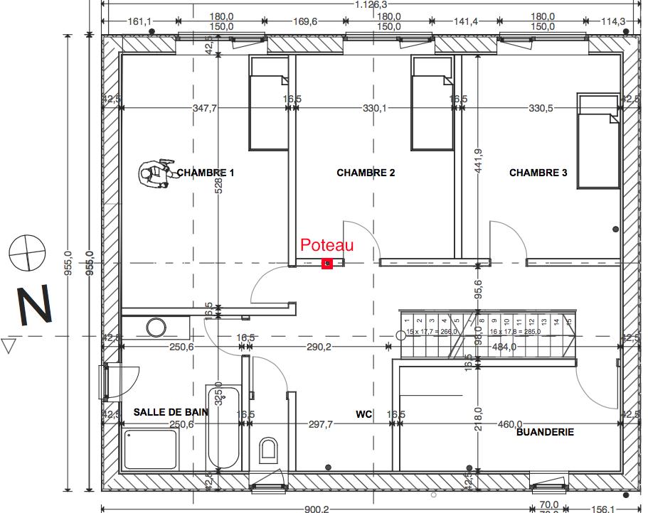 Structure porteuse milieu de la maison r solu 13 for La structure d une maison