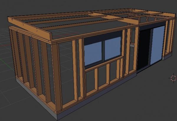 Question sur la structure solive linteaux et lisse for Lisse haute ossature bois