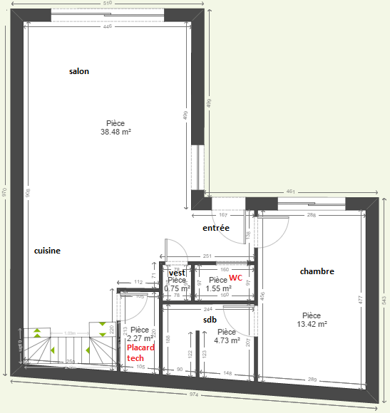 surfaces placard technique wc suffisantes 23 messages. Black Bedroom Furniture Sets. Home Design Ideas