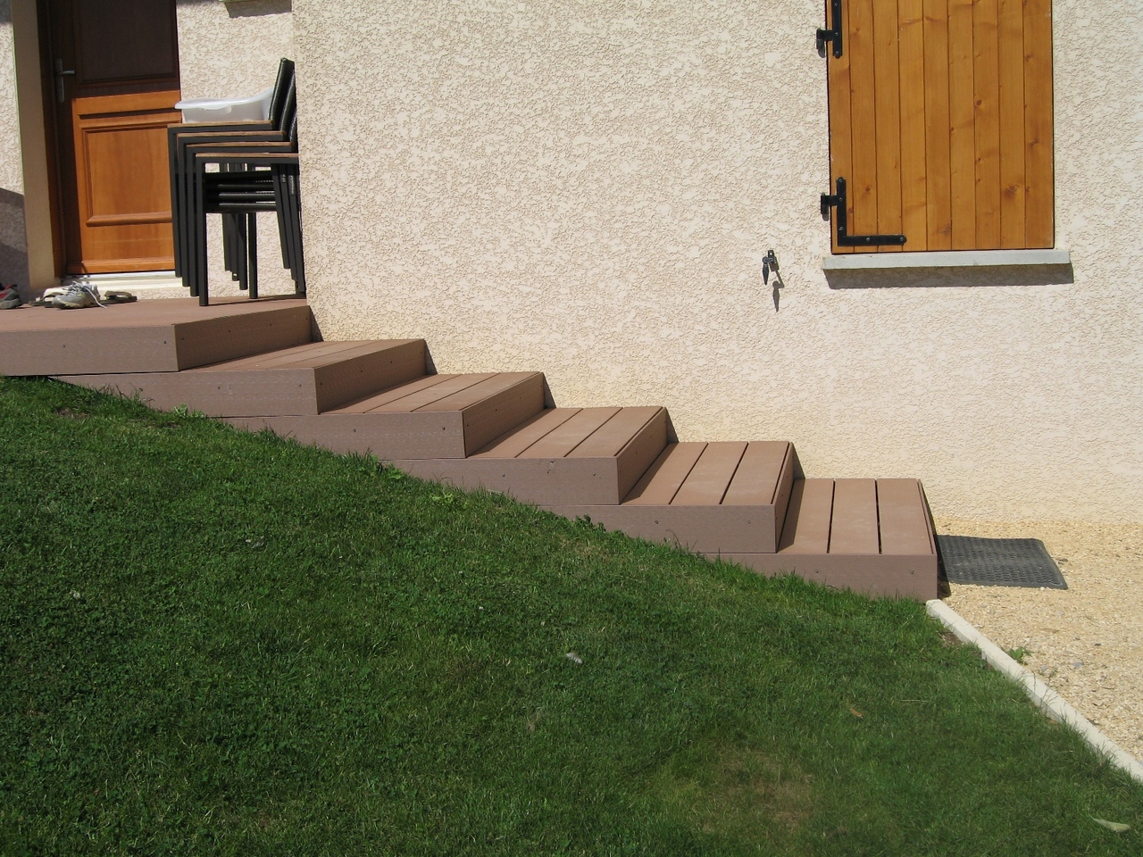 escalier exterieur composite