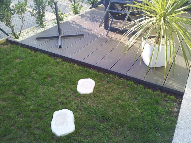 Terrasse Composite Lames Et Lambourdes Sur Dallettes Bton