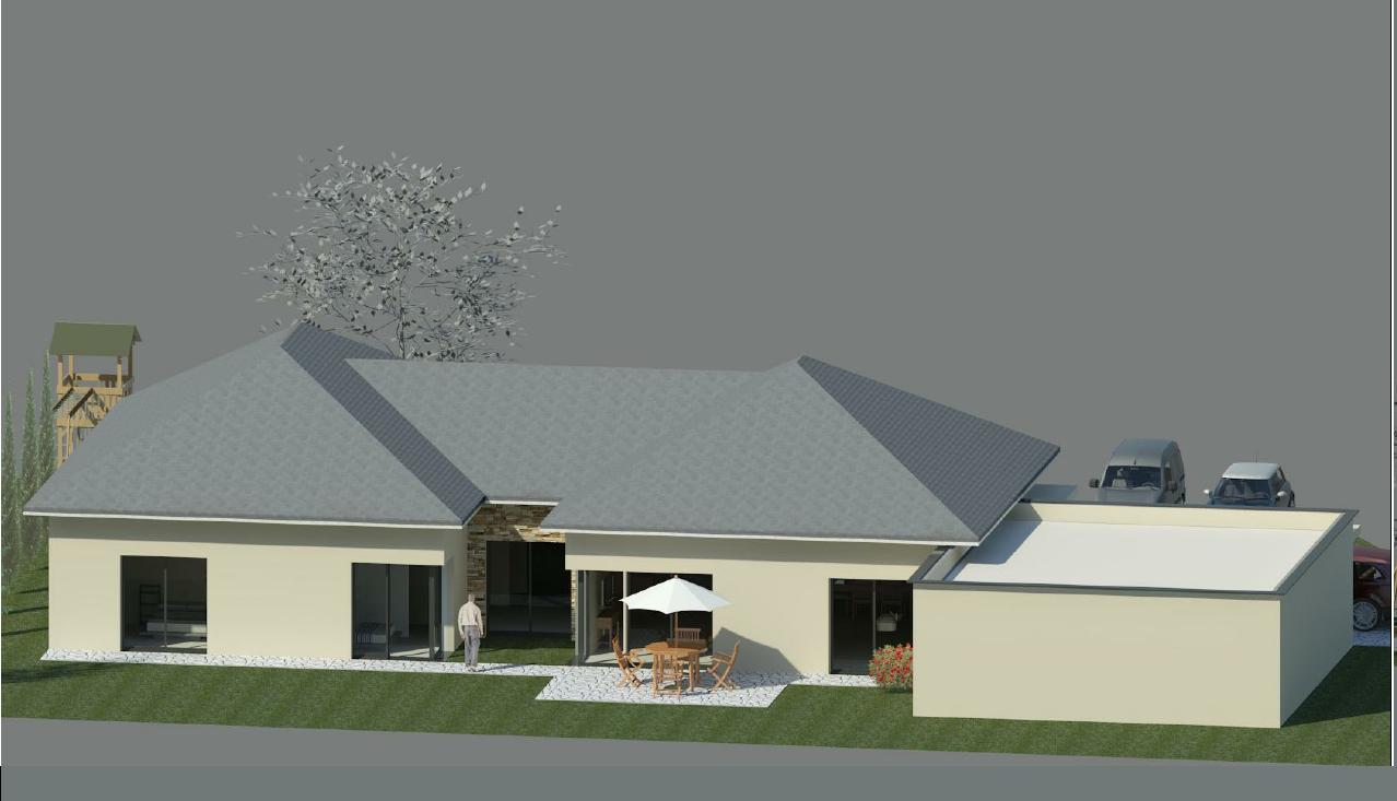 prsentation du projet - Plan Maison Plain Pied 200m2