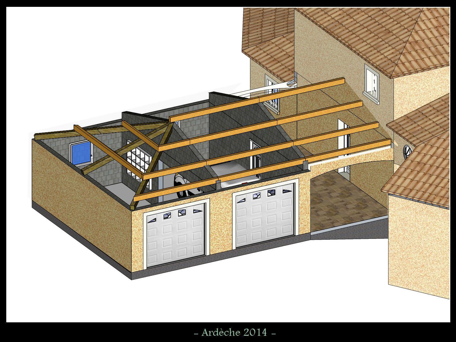 toiture 3 pans sur pignon ma onn 15 messages. Black Bedroom Furniture Sets. Home Design Ideas