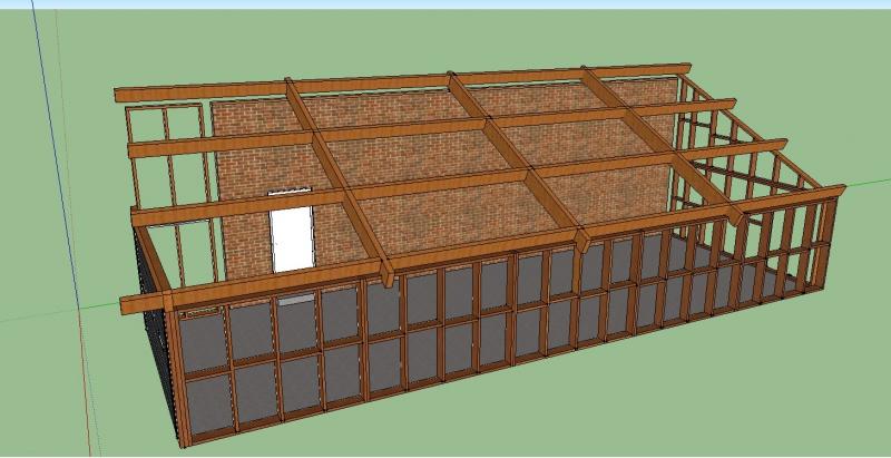 Toiture monopente 4 messages # Garage Ossature Bois Monopente