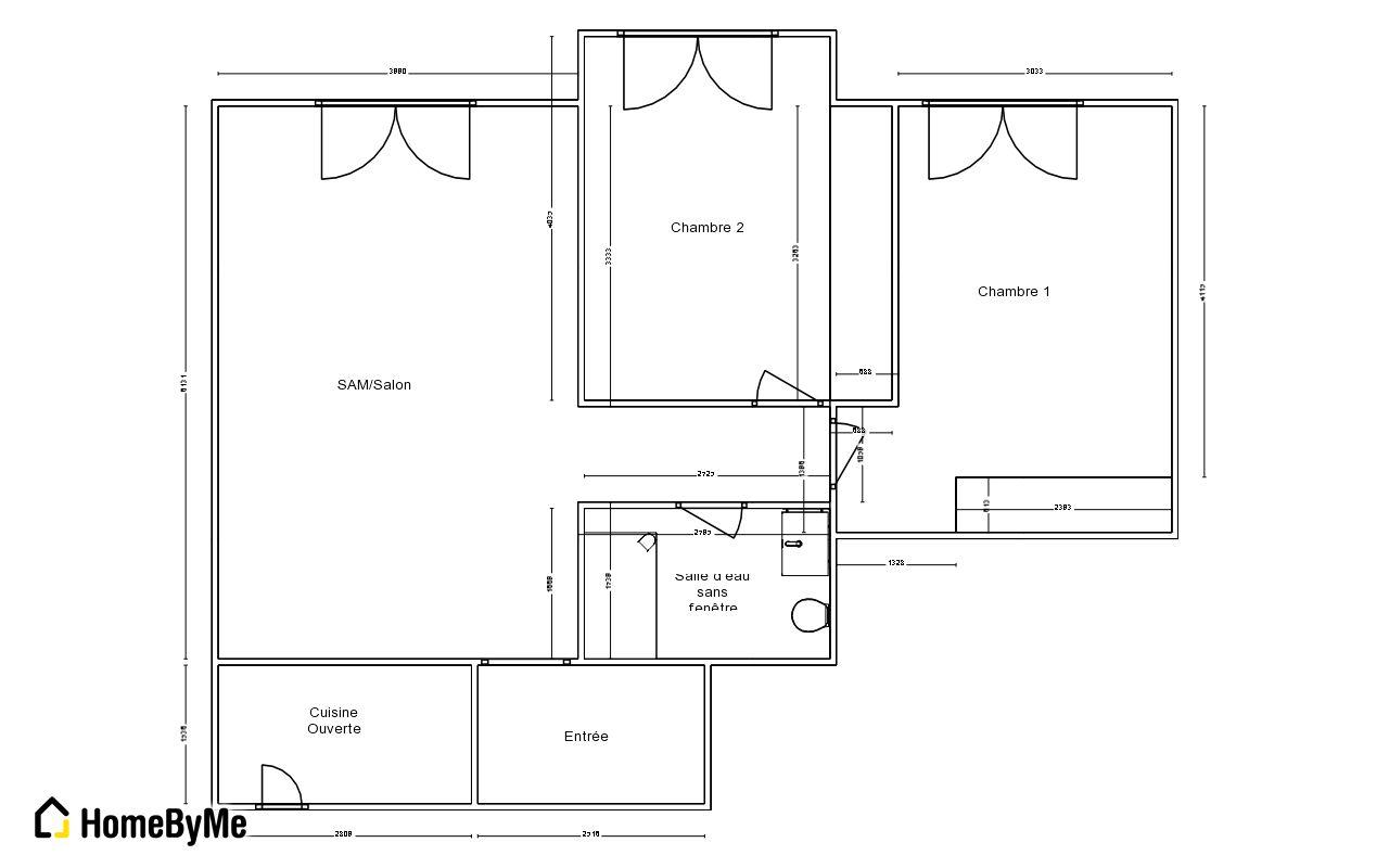 transformer un t2 de 64 m2 en un t3 10 messages. Black Bedroom Furniture Sets. Home Design Ideas