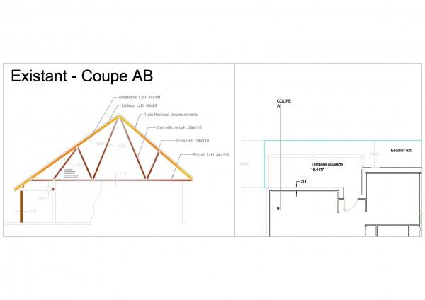 transformer une terrasse en v randa avec extension de toiture. Black Bedroom Furniture Sets. Home Design Ideas
