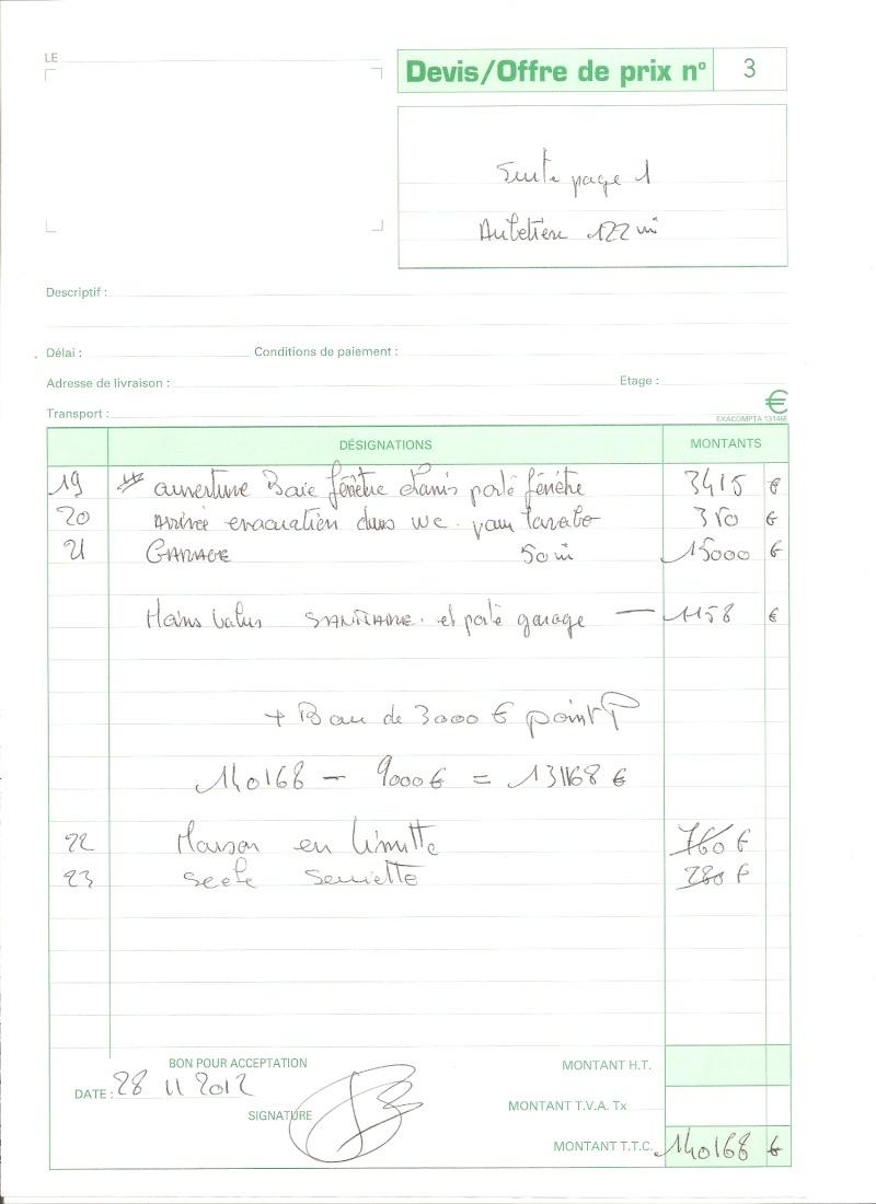 Travaux impos s par le constructeur 50 messages page 2 for Exemple devis entretien espace vert
