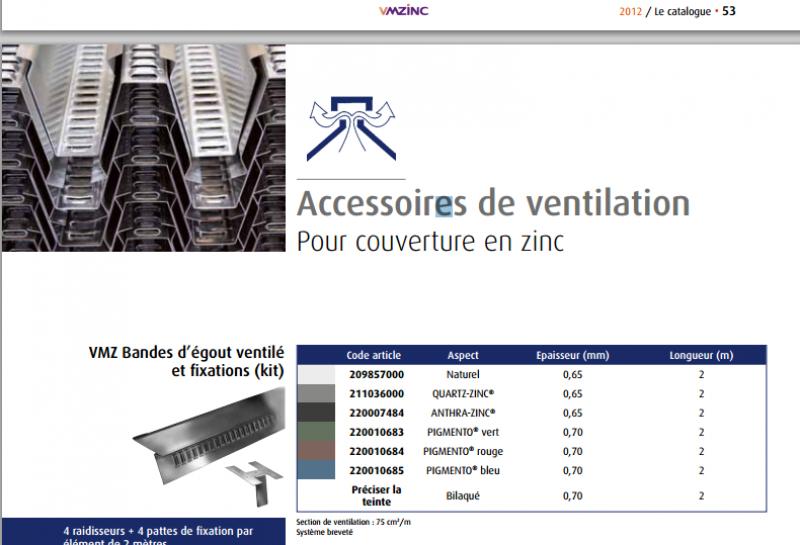 ventilation d 39 un toit cintr en zinc joints debouts 7 messages. Black Bedroom Furniture Sets. Home Design Ideas