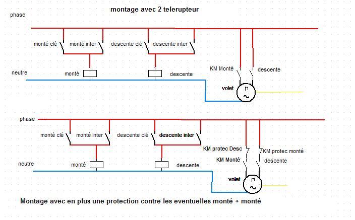 Branchement Contacteur A Cle Somfy Volet Roulant